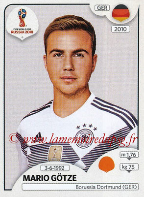 2018 - Panini FIFA World Cup Russia Stickers - N° 449 - Mario GOTZE (Allemagne)