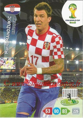 2014 - Panini FIFA World Cup Brazil Adrenalyn XL - N° 200 - Mario MANDZUKIC (Croatie)