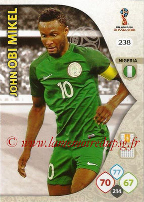 2018 - Panini FIFA World Cup Russia Adrenalyn XL - N° 238 - John OBI MIKEL (Nigeria)
