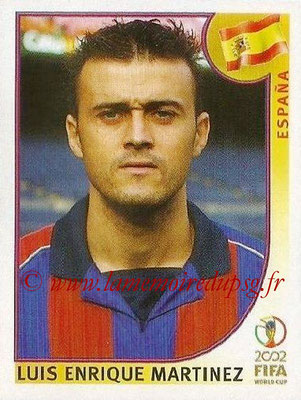 2002 - Panini FIFA World Cup Stickers - N° 110 - Luis Enrique MARTINEZ (Espagne)