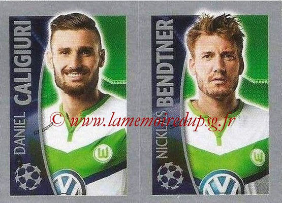 2015-16 - Topps UEFA Champions League Stickers - N° 148 - Daniel CALIGIURI + Nicklas BENDTNER (VFL Wolfsburg)