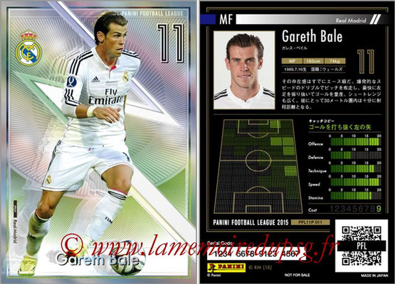 Panini Football League 2015 - PFL11P - N° 011 - Gareth BALE (Real Madrid) (Craque)