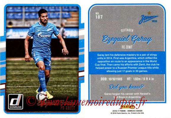 2016 - Panini Donruss Cards - N° 187 - Ezequiel GARAY (FC Zenit)