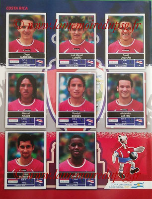 Panini Copa América Argentina 2011 - Pages sup 2 - Costa Rica