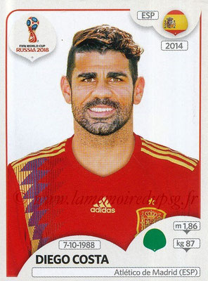 2018 - Panini FIFA World Cup Russia Stickers - N° 151 - Diego COSTA (Espagne)