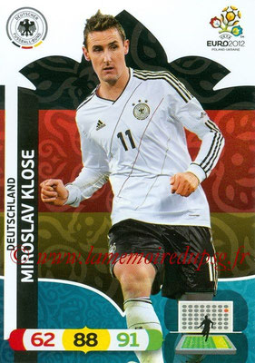 Panini Euro 2012 Cards Adrenalyn XL - N° 039 - Miroslav KLOSE (Allemagne)