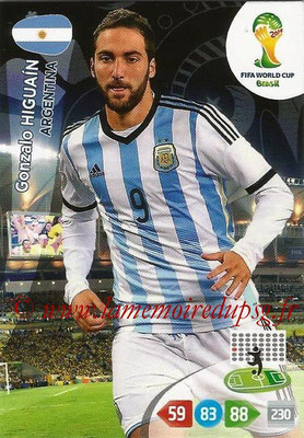 2014 - Panini FIFA World Cup Brazil Adrenalyn XL - N° 016 - Gonzalo HIGUAIN (Argentine)
