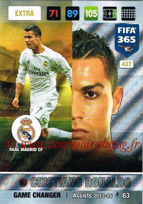 2016-17 - Panini Adrenalyn XL FIFA 365 - N° 437 - Cristiano RONALDO (Real Madrid CF) (Game Changer) (Nordic Edition)