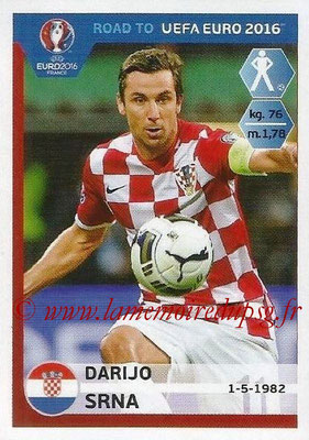 Panini Road to Euro 2016 Stickers - N° 130 - Darijo SRNA (Croatie)