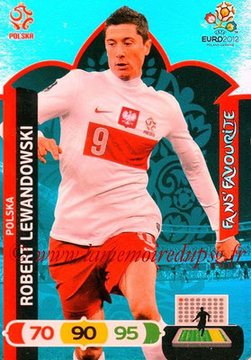 Panini Euro 2012 Cards Adrenalyn XL - N° 265 - Robert LEWANDOWSKI (Pologne) (Fans' Favourite)