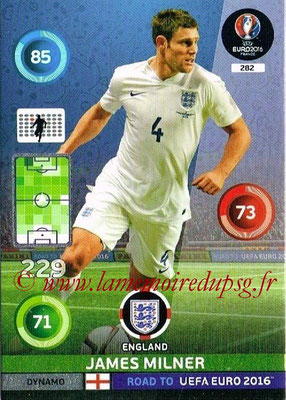 Panini Road to Euro 2016 Cards - N° 282 - James MILNER (Angleterre) (Dynamo)