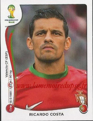2014 - Panini FIFA World Cup Brazil Stickers - N° 514 - Ricardo COSTA (Portugal)