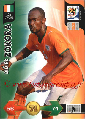 2010 - Panini FIFA World Cup South Africa Adrenalyn XL - N° 068 - Didier ZOKORA (Côte d'Ivoire)