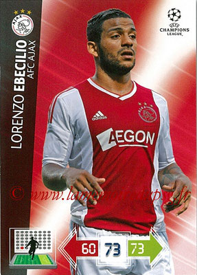 2012-13 - Adrenalyn XL champions League N° 012 - Lorenzo EBECILIO (AFC Ajax)