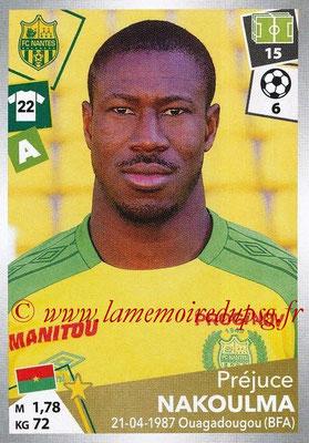 2017-18 - Panini Ligue 1 Stickers - N° 331 - Préjuce NAKOULMA (Nantes)