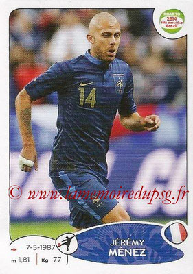 2014 - Panini Road to FIFA World Cup Brazil Stickers - N° 106 - Jérémy MENEZ (France)