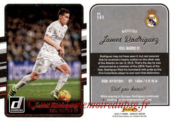 2016 - Panini Donruss Cards - N° 141 - James RODRIGUEZ (Real Madrid CF)