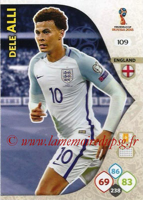2018 - Panini FIFA World Cup Russia Adrenalyn XL - N° 109 - Dele ALLI (Angleterre)