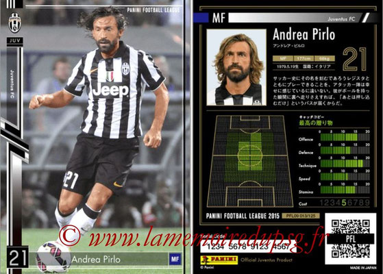 Panini Football League 2015 - PFL09 - N° 013 - Andrea PIRLO (Juventus Turin)