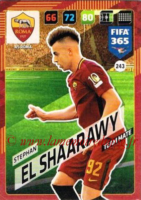 2017-18 - Panini FIFA 365 Cards - N° 243 - Stephan EL SHAARAWY (AS Roma)