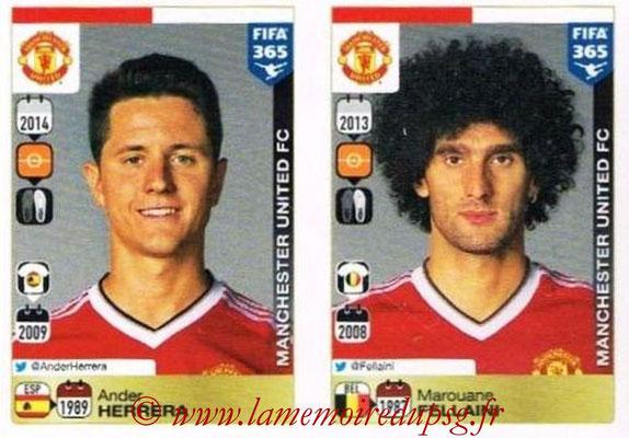 2015-16 - Panini FIFA 365 Stickers - N° 322-326 - Ander HERRERA + Marouane FELLAINI (Manchester United FC)