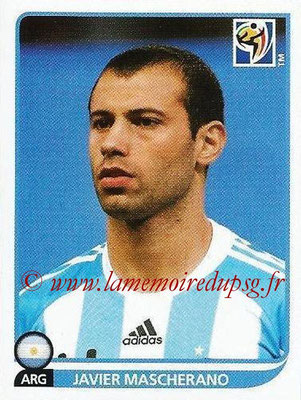 2010 - Panini FIFA World Cup South Africa Stickers - N° 116 - Javier MASCHERANO (Argentine)