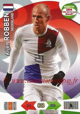 2014 - Panini Road to FIFA World Cup Brazil Adrenalyn XL - N° 136 - Arjen ROBBEN (Pays-Bas)