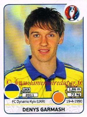 Panini Euro 2016 Stickers - N° 280 - Denys GARMASH (Ukraine)