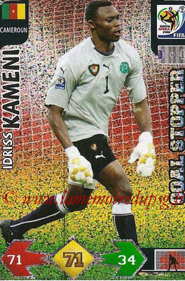 2010 - Panini FIFA World Cup South Africa Adrenalyn XL - N° 062 - Idriss KAMENY (Cameroun) (Goal Stopper)