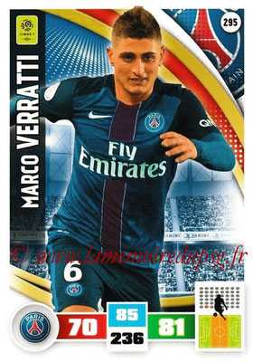 2016-17 - Panini Adrenalyn XL Ligue 1 - N° 295 - Marco VERRATTI (Paris Saint-Germain)