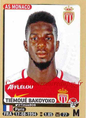 2015-16 - Panini Ligue 1 Stickers - N° 253 - Tiemoué BAKOYOKO (AS Monaco)