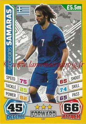 Topps Match Attax England 2014 - N° 137 - Georgios SAMARAS (Grèce)