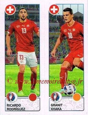 Panini Euro 2016 Stickers - N° 098 - Ricardo RODRIGUEZ + Granit XHAKA (Suisse)