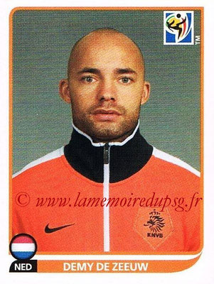 2010 - Panini FIFA World Cup South Africa Stickers - N° 344 - Demy DE ZEEUW (Pays Bas)