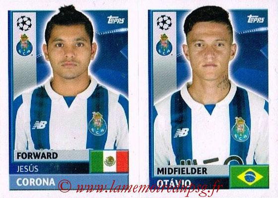 2016-17 - Topps UEFA Champions League Stickers - N° QFJ 13-14 - OCTAVIO + Jesus CORONA (FC Porto)