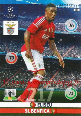 2014-15 - Adrenalyn XL champions League N° 103 - ELISEU (SL Benfica)