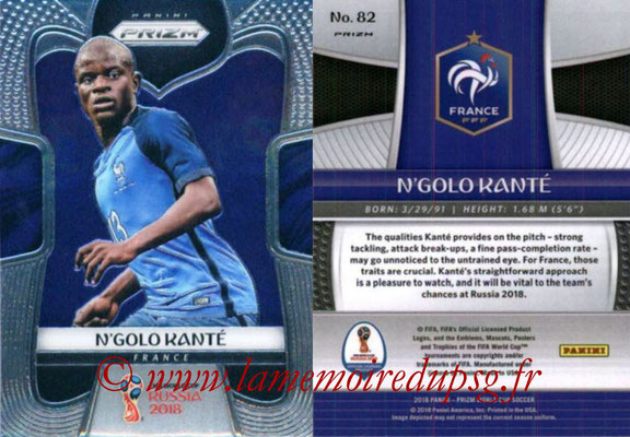 2018 - Panini Prizm FIFA World Cup Russia - N° 082 - N'Golo KANTE (France)