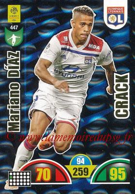 2018-19 - Panini Adrenalyn XL Ligue 1 - N° 447 - Mariano DIAZ (Lyon) (Crack)