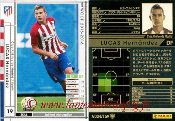 2015-16 - Panini WCCF - N° A034 - Luca HERNANDEZ (Club Atletico de Madrid)