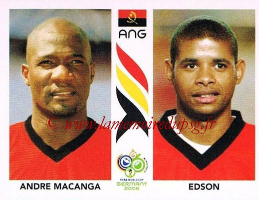 2006 - Panini FIFA World Cup Germany Stickers - N° 306 - Andre MACANGA + EDSON (Angola)
