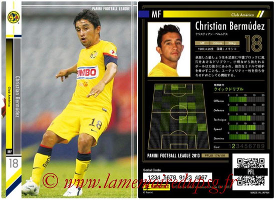 Panini Football League 2013 - PFL01 - N° 174 - Christian Bermudez ( Club America )