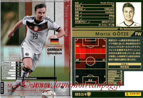 2015-16 - Panini WCCF - N° GES2 - Mario GÖTZE (Allemagne) (German Superstars)