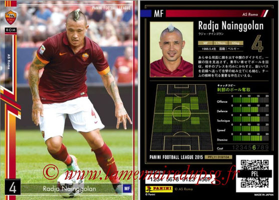 Panini Football League 2015 - PFL11 - N° 018 - Radja NAINGGOLAN (AS Rome)