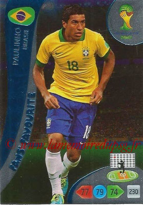 2014 - Panini FIFA World Cup Brazil Adrenalyn XL - N° 329 - PAULINHO (Brésil) (Fan's favorite)