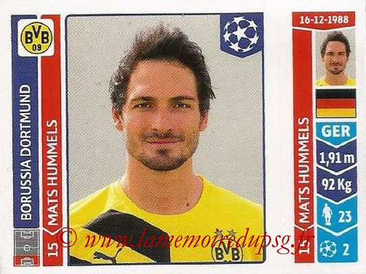 2014-15 - Panini Champions League N° 273 - Mats HUMMELS (Borussia Dortmund)