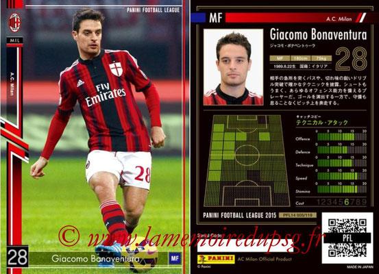 Panini Football League 2015 - PFL14 - N° 005 - Giacomo BONAVENTURA (Milan AC)