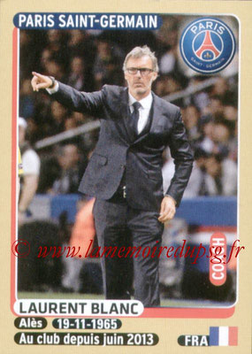 2015-16 - Panini Ligue 1 Stickers - N° 342 - Laurent BLANC (Paris Saint-Germain)