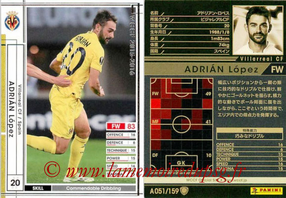 2015-16 - Panini WCCF - N° A051 - Adrian LOPEZ (Villareal CF)