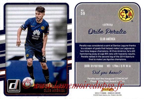 2016 - Panini Donruss Cards - N° 059 - Oribe PERALTA (Club América)