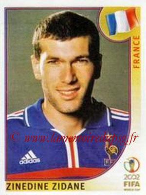 2002 - Panini FIFA World Cup Stickers - N° 038 - Zinedine ZIDANE (France)
